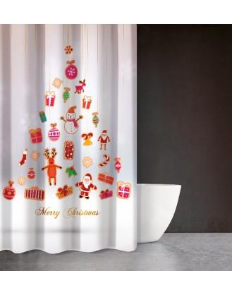 ΚΟΥΡΤΙΝΑ ΜΠΑΝΙΟΥ 180x200cm SAINT CLAIR - CHRISTMAS 402