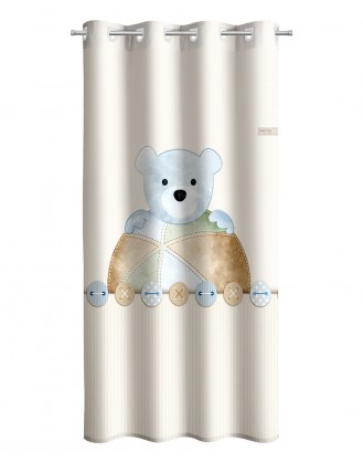 ΠΑΙΔΙΚΗ ΚΟΥΡΤΙΝΑ ΜΕ ΤΡΟΥΚΣ 1.65x2.50Μ SAINT CLAIR - TEDDY SKY
