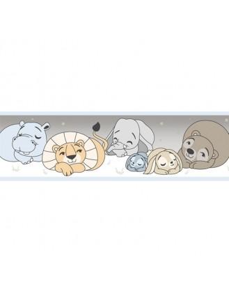 ΑΥΤΟΚΟΛΛΗΤΗ ΜΠΟΡΝΤΟΥΡΑ ΤΟΙΧΟΥ TREBOLI - SLEEPY ANIMALS 591-1