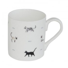 ΚΟΥΠΑ ΠΟΡΣΕΛΑΝΗΣ FINE BONE CHINA 275ml SOPHIE ALLPORT - CATS & BONES