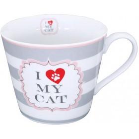 ΚΟΥΠΑ - I LOVE MY CAT WITH STRIPES