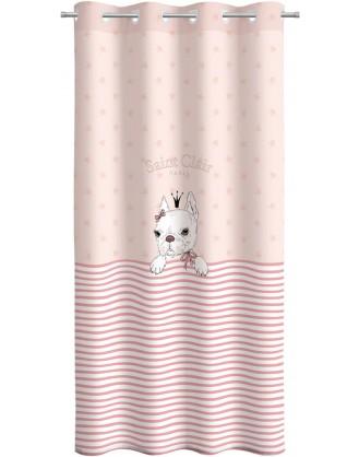 ΠΑΙΔΙΚΗ ΚΟΥΡΤΙΝΑ ΜΕ ΤΡΟΥΚΣ 160x250cm SAINT CLAIR - ROSIE PINKY