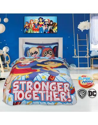 ΣΕΤ ΜΟΝΗ ΠΑΠΛΩΜΑΤΟΘΗΚΗ 2 ΤΕΜ. 160x240cm DAS HOME - SUPER HERO GIRLS 5005