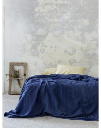 KING SIZE ΚΟΥΒΕΡΤΑ 240x260cm NIMA - HABIT NAVY BLUE