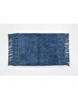 ΧΑΛΑΚΙ ΜΠΑΝΙΟΥ 65x130cm DOWN TOWN - MACRAME BLUE