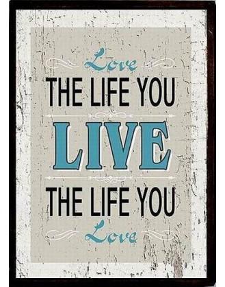 """ΠΟΣΤΕΡ ΣΕ ΚΟΡΝΙΖΑ 30x40cm LA FINESSE - EM3181 """"LOVE THE LIFE YOU LIVE"""""""