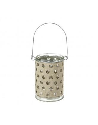 ΧΡΙΣΤΟΥΓΕΝΝΙΑΤΙΚΗ ΘΗΚΗ ΡΕΣΩ HEAVEN SENDS - GLASS HANGING JAR (SNOWFLAKES)