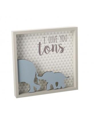 ΔΙΑΚΟΣΜΗΤΙΚΗ ΠΙΝΑΚΙΔΑ 21x21cm HEAVEN SENDS - I LOVE YOU TONS
