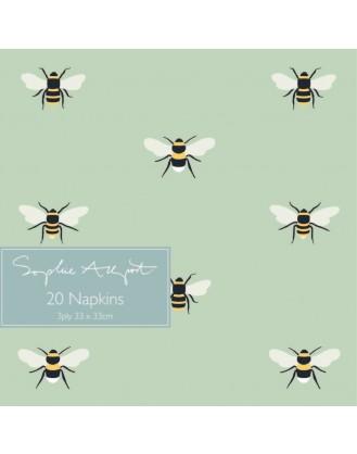 ΧΑΡΤΟΠΕΤΣΕΤΕΣ 33x33cm 20 ΤΕΜ. SOPHIE ALLPORT - BEES